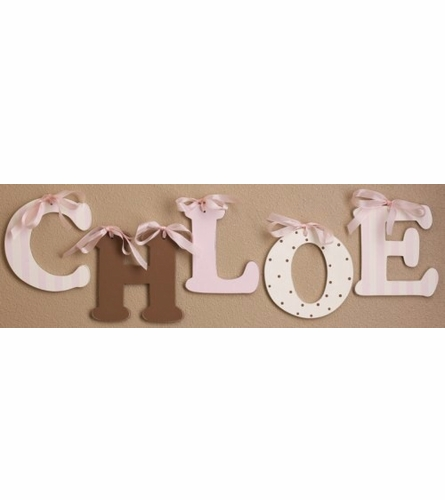 Chocolate Wooden Mix & Match Wall Letter