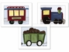 Choo Choo Framed Canvas Reproduction - Set of 3