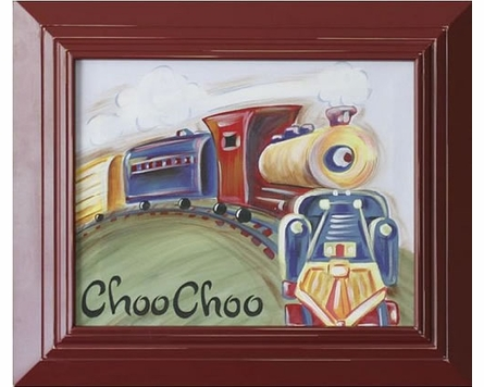 Choo Choo Hand Painted Canvas