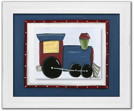 Choo Choo Train Personalized Framed Canvas Reproduction