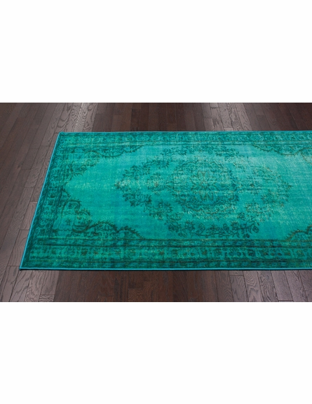 Chroma Overdyed Rug in Turquoise