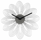 Chrome Petal Wall Clock