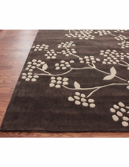 Cine Delicate Rug in Brown