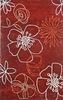Cine Floating Lilies Rug in Red