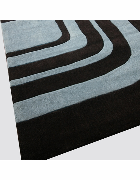 Cine Mazes Rug in Dark Chocolate
