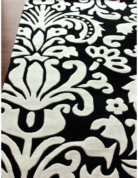 Cine Parisian Rug in Black