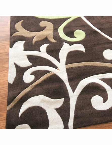 Cine Scroll Rug in Brown