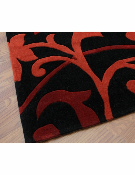 Cine Scroll Rug in Red