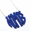Circle Acrylic Monogram Necklace