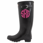 Circle Boot Monogram Decal Set of 2