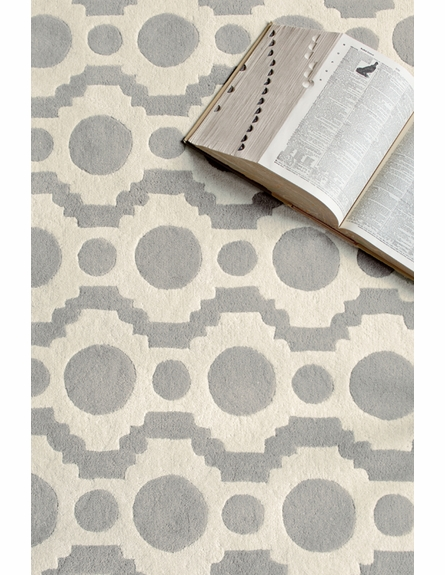 Circle Fret Tufted Rug
