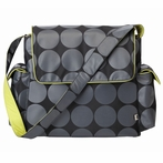 Circle With Green Trim Messenger Diaper Bag
