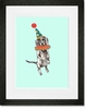 Circus Dog Framed Art Print
