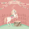 Circus Horse Pink Canvas Wall Art