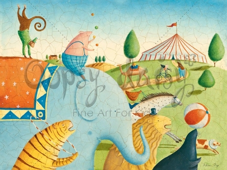 Circus Parade Canvas Wall Art