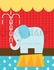Circus Tricks - Elephant Canvas Wall Art