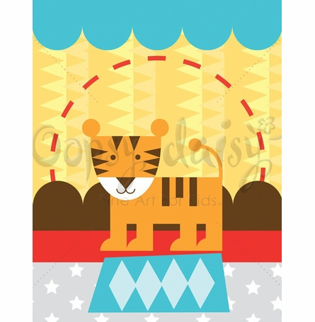 Circus Tricks - Tiger Canvas Wall Art