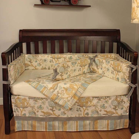Cirque Blue Crib Bedding