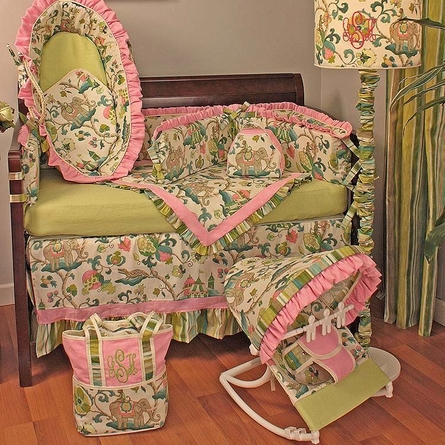 Cirque Pink Crib Bedding Set