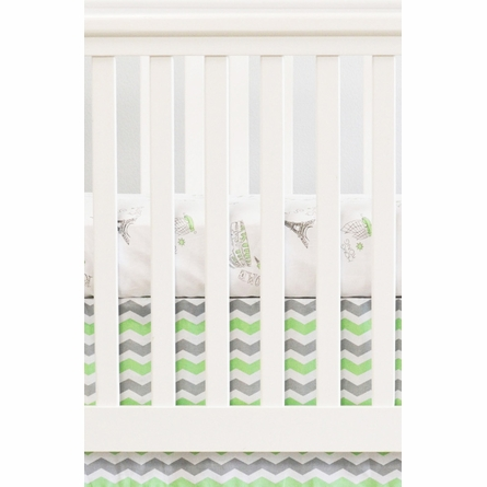 Cities Crib Sheet in Mint