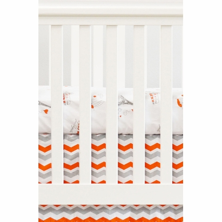 Cities Crib Sheet in Orange