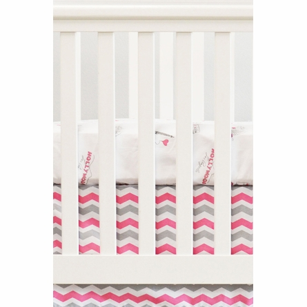 Cities Crib Sheet in Pink