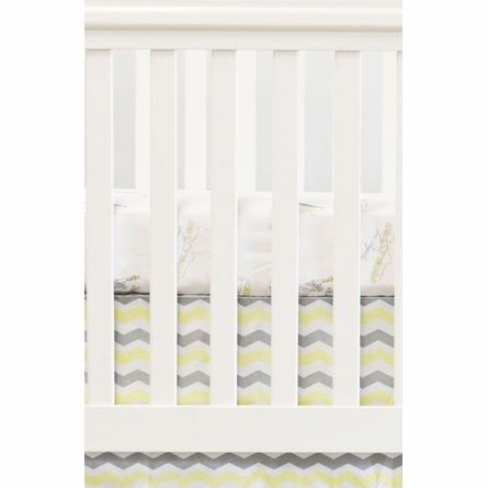 Cities Crib Sheet in Yellow