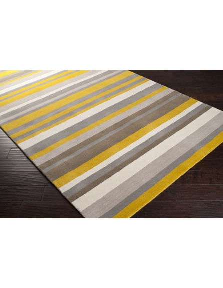 Citrine Striped Madison Square Rug
