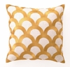 Citron Scales Linen Embroidered Pillow