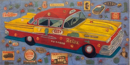 City Cab Canvas Wall Art