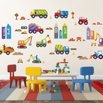 City Construction Wall Decals