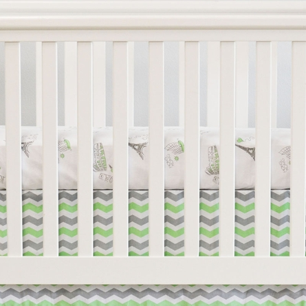 City of Dreams 2-Piece Crib Bedding Set in Mint