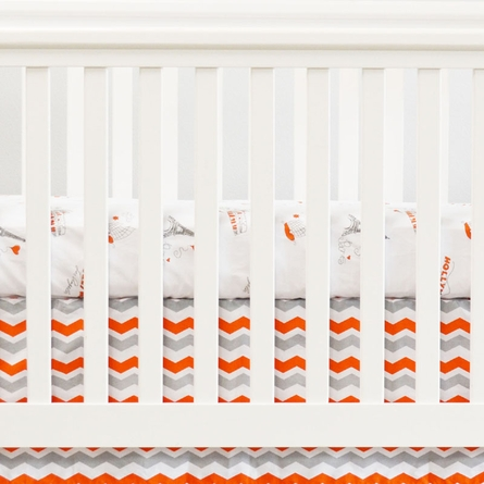 City of Dreams 2-Piece Crib Bedding Set in Orange