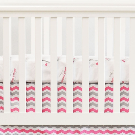 City of Dreams 2-Piece Crib Bedding Set in Pink