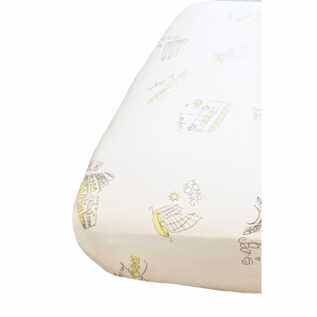 On Sale City of Dreams 2-Piece Crib Bedding Set in Yellow