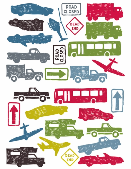 City Traffic Peel & Stick Wall Decals