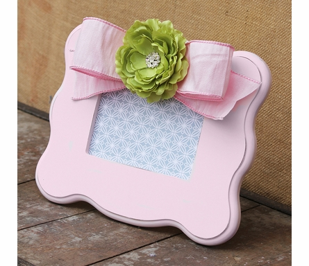 Claire Pink Scalloped Picture Frame