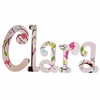 Clara Birds Hand Painted Wall Letters