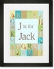 Classic Alphabet Boy Framed Art Print