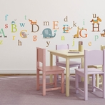 Classic Animals Alphabet Wall Decals