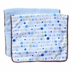 Classic Blue Dot Line Burp Cloth Set