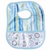 Classic Blue Dot Line Coated Bib