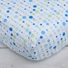 Classic Blue Dot Line Crib Sheet
