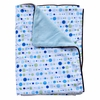 Classic Blue Dot Piped Blanket