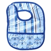Classic Blue Stripe Coated Bib