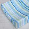 Classic Blue Stripe Cotton Changing Pad Cover