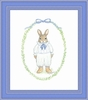 Classic Boy Bunny Framed Lithograph