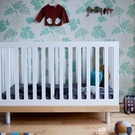 Classic Convertible Crib in Birch and White