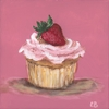 Classic Cupcake Party Strawberry Canvas Reproduction