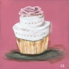 Classic Cupcake Party Wedding Canvas Reproduction